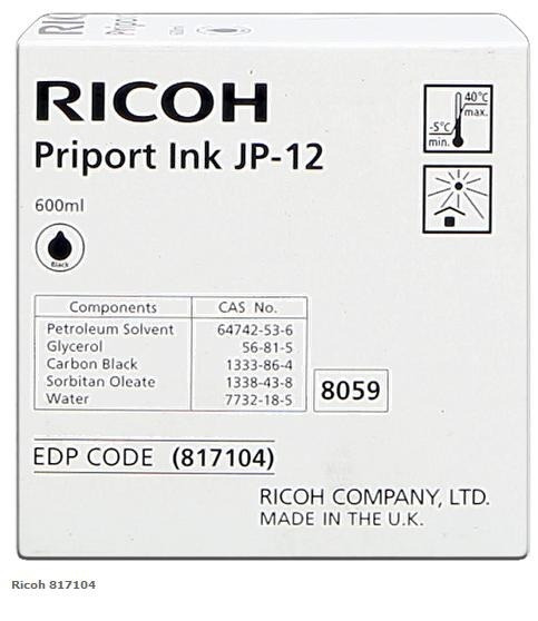 Tinta Copy Printer Ricoh Jp-12 Priport Ink 817104