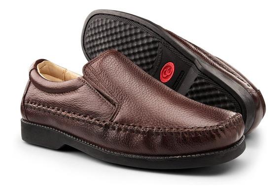 Sapato Masculino Social Casual Ortopedico Diabetico Couro