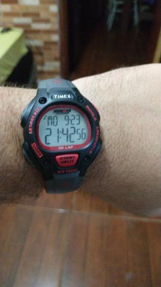 Relógio Timex Ironman Triathlon Preto E Vermelho