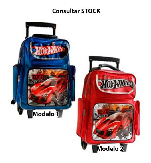 Mochila Hot Wheels Carro 18p Original Mmk 28701