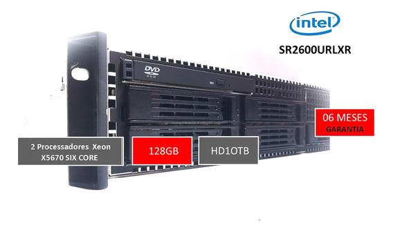 Servidor Rack 2u Intel 128gb - Hd 10tb Sr2600urlxr