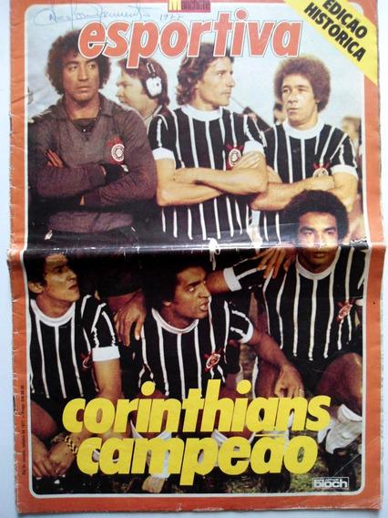 Revista Corinthians Campeão 77 Manchete Esportiva C/ Poster