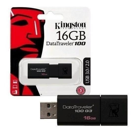 Pendrive 16gb Kingston Datatraveler 100 Usb 2.0/3.0