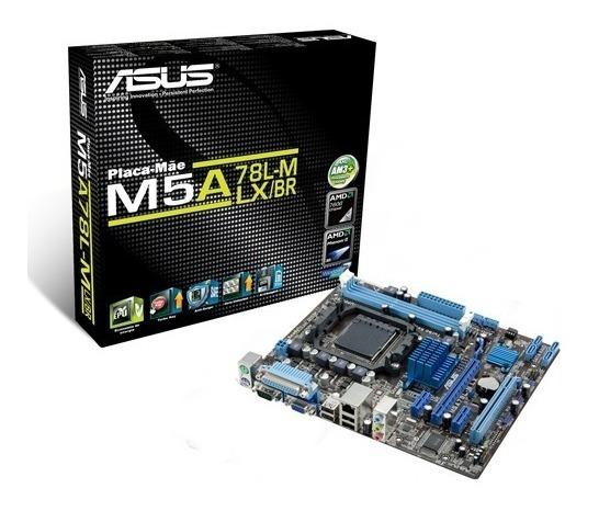 Placa-mãe Asus M5a78l-m Lx/br. Amd / Am3+ 95w / Ddr3