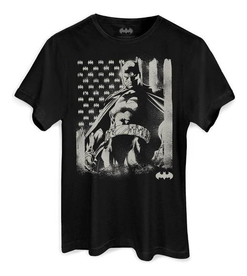 Camiseta Dc Comics Batman Flag