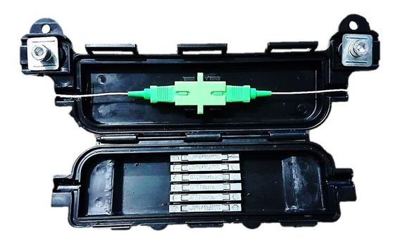 Caixa De Emenda Óptica P/ Cabo Drop (kit C/ 30 Unid.)-preta