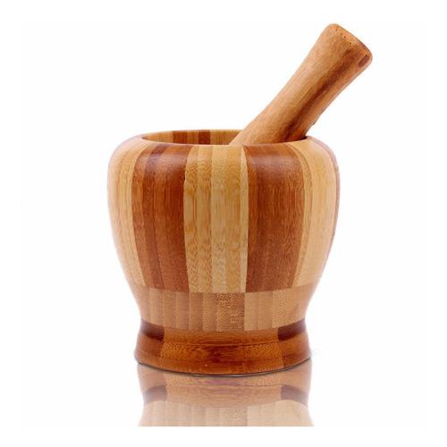 Mortero De Bamboo