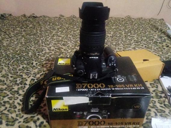 Câmera Nikon D7.000 Profissional.com Objetiva 18x105 Mm Semi