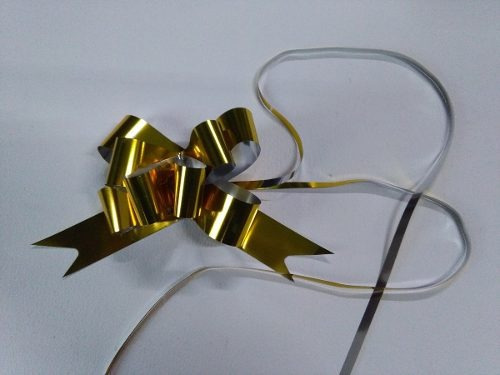 Moños Magicos Dorados N°25 P/regalo X 100u Directo Fabrica