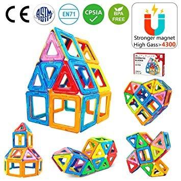 Jasonwell 42 Pcs Magnética Azulejos Building Blocks Niño Niñ