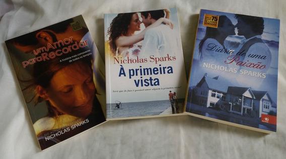 Livros Nicholas Sparks / 3 Livros De Romance/ Bem Conservado