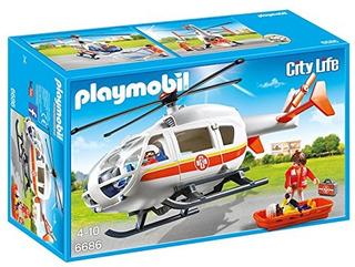 Helicoptero Medico De Emergencia Playmobil
