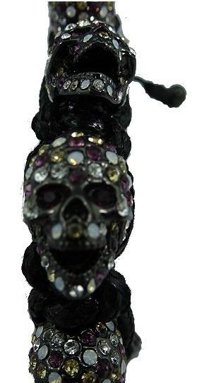 Pulsera Skull Calavera Estilo Bomberg Piedras Swarovski B3