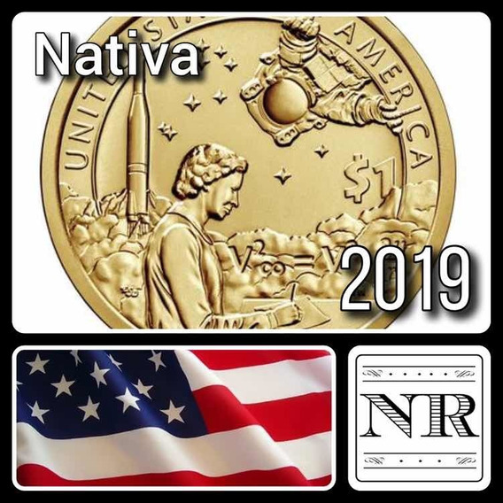 Nativa Americana 2019 - Nasa - Eeuu Sacagawea Dollar