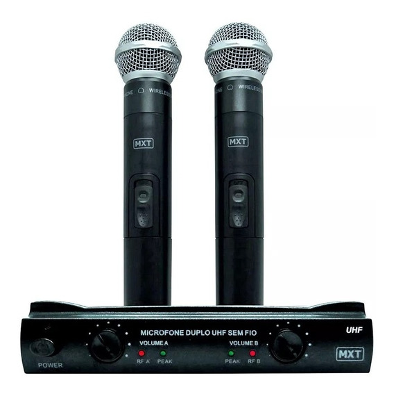Microfone S/ Fio Duplo Mão Uhf Tipo Lyco Kadosh Jwl Mxt302