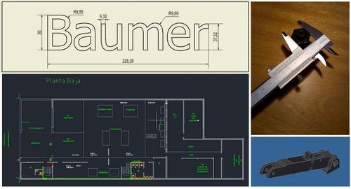 Imagen 1 de 2 de Cadista Freelance Autocad 2d 3d, Inventor, Impresion 3d