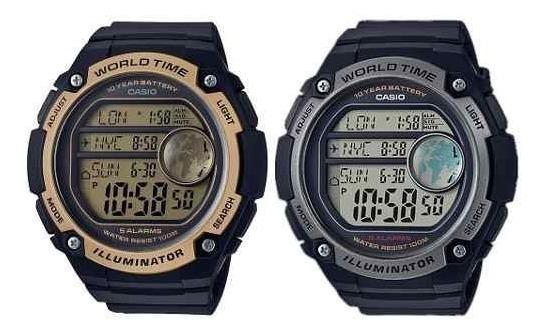Relógio Casio Digital Ae3000w Borracha Grande Original Nf