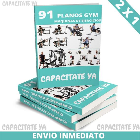 Planos Maquinas De Gimnasio Gym Para Ejercicios Aparatos