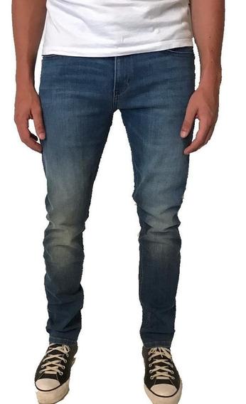 Jeans Hombre Wrangler Larston Uw Slim Tiro Medio