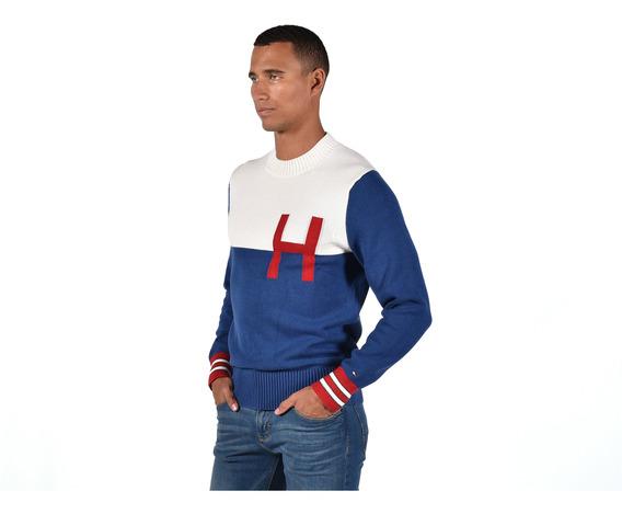Suéter - Tommy Hilfiger - Mw0mw05064-424 - Azul Hombre