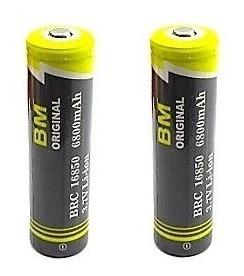 Bateria Bm Original 3.7v 16850 6800 Mah Lanterna Kit C/ 2 Un