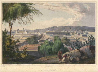 Lienzo Tela Grabado Nebel San Luis Potosí México 1836 50x68