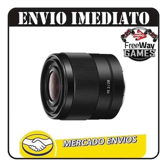 Lente Sony Fe 28mm F/2 - Sel28f20 + Nfe