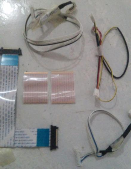Kit Cabo Flat Conector Tv Samsung Un40es6500