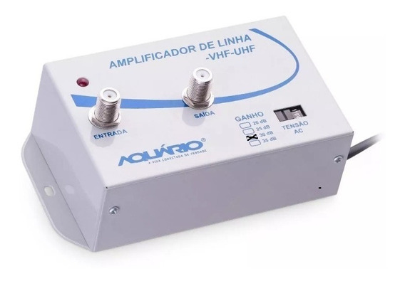 Amplificador De Sinal De Antena Para Tv - 30db - Aquário