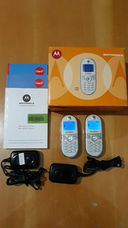 2 X Celular Motorola C200 Kit Completo Com Box Original