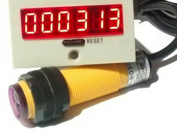 Contador Digital Batidas 12/24vdc + Sensor Detecção Até 30cm