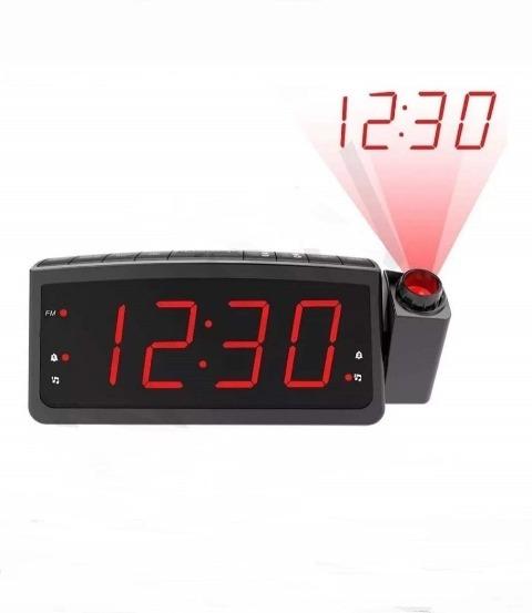 Rádio Relógio Digital Projetor Premium Despertador Fm/usb