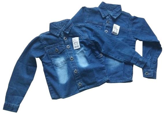 Camisão Jeans Masculino Infantil Por R$40,00