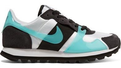 Nike V-love O.x. Suede, Pvc And Elastic-trimmed Mesh Sneake