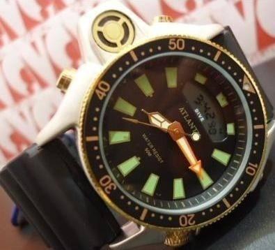 Relogio Atlantis G3220 Serie Ouro Aqualand Borracha =citzen