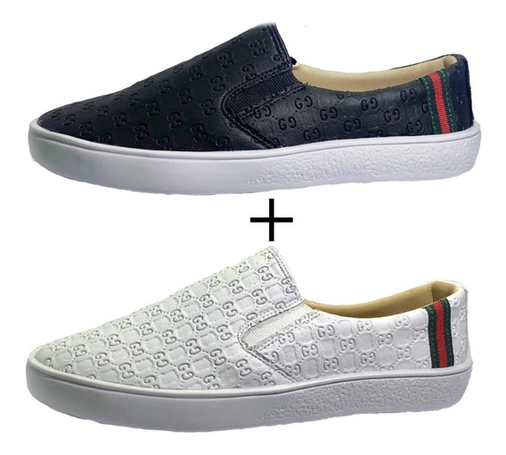 Tênis Kit 2 Pares Alpargata Gucci Slip On Feminino