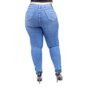 6af368677a Calça Jeans Cambos Plus Size Skinny Byanca Azul