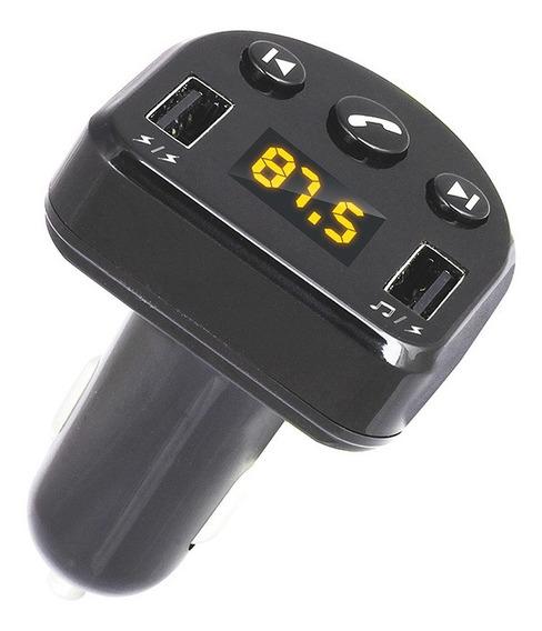 Carregador De Carro Dual Usb Com Transmissor Fm Bluetooth