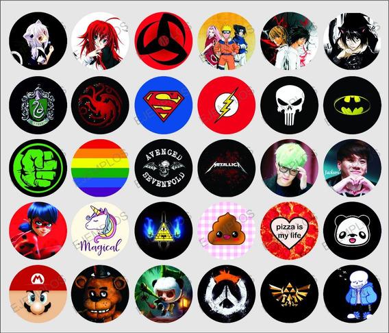 Pins/ Botones Anime, Comics, Musica, Kawaii, Juegos, Y Mas