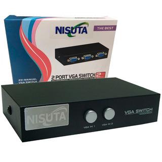Switch 2 Puertos Vga Nisuta Ns-swvg2 Manual 2 Pc 1 Monitor