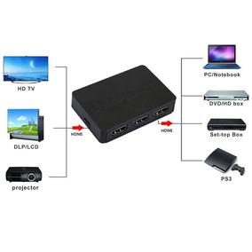 Switch Hdmi 3x1 Com Controle Chaveador Hdmi