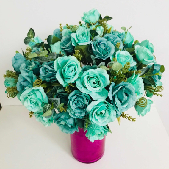 Flores Artificiales Color Turquesa En Mercado Libre México
