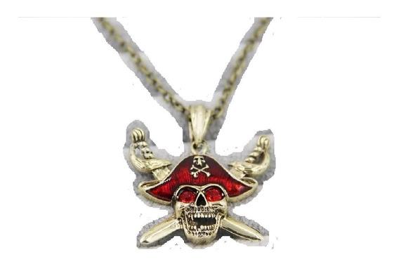 Colar Com Pingente Piratas Do Caribe