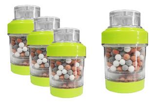 Lux Sany Xr-01lv Set 4 Mini Filtros De Agua Con Minerales Purificador Para Llave Grifo De Cocina Color Verde