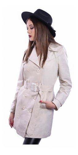 Piloto Impermeable Trench Capucha Desmontable Mujer Nofret