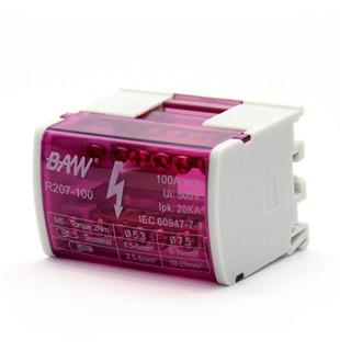 Repartidor Distribuidor Bipolar 2x7 100a 7 Contactos