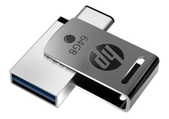 Pen Drive 64gb Usb3.1+tipo C X5000m Hp