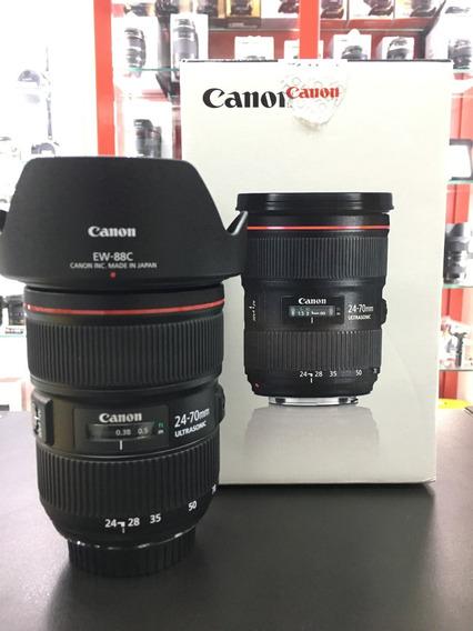 Lente Canon Nova 24-70mm F/2.8l Ii 12x Sem Juros