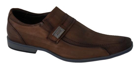 Sapato Masculino Ferracini 5233-273h Couro Natural Chocolate