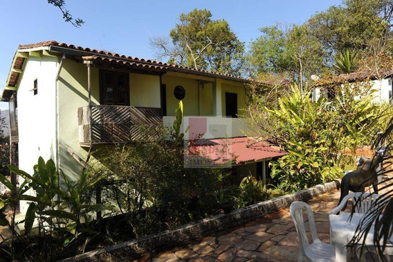 Estuda Permuta! 3 Casas Com Terreno De 6.621m², R$ 1.800.000 - Centro Histórico - Ouro Preto/mg - Ca0895